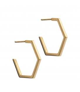 Rachel Jackson Medium Hexagon Hoop Earrings