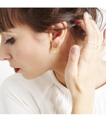 Rachel Jackson Hexagon Earrings