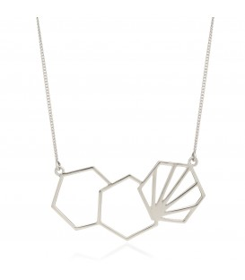 Rachel Jackson 3 Hexagon Necklace