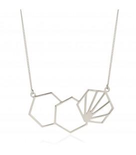 Rachel Jackson 3 Hexagon Necklace