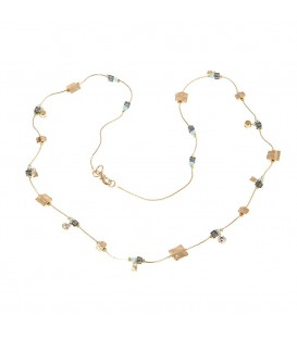 Mark Watson Reed Necklace Gold