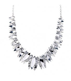 Chris Lewis Jagged Leaf Necklace