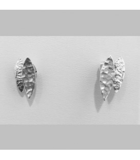 Chris Lewis Jagged Leaf Studs