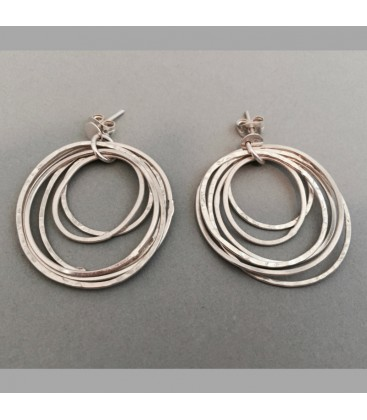 Chris Lewis Circle Statement Earrings