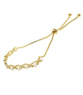 Gold CZ Friendship Bracelet
