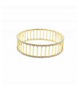 Gold Crystal Cuff