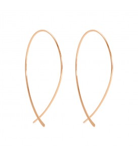 Boho Betty Bellucci Rose Gold Thread Through Earrings with Curved Bar