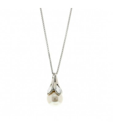 Large Pearl Pendant Necklace