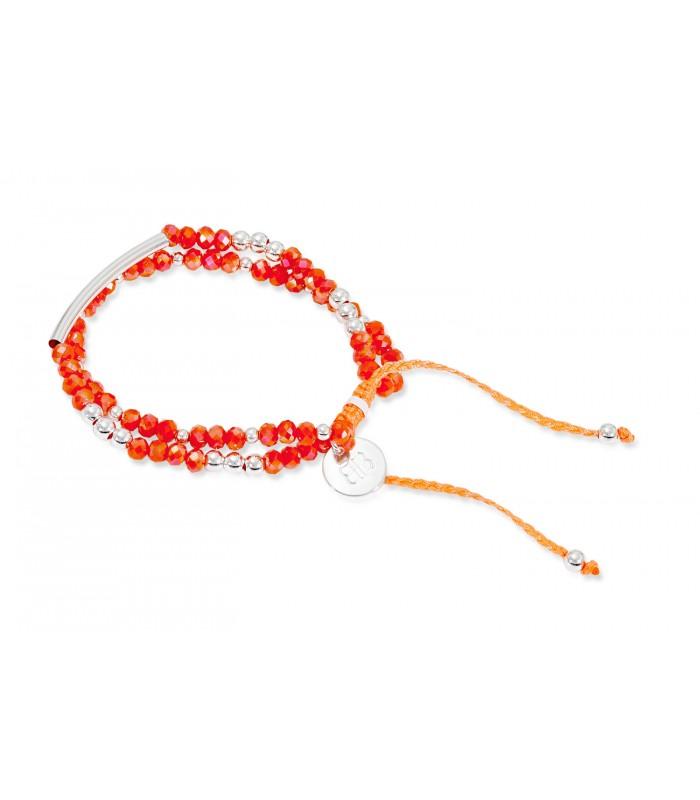 474079a634c Boho Betty Exit 2 Strand Coral & Silver Friendship Bracelet ...
